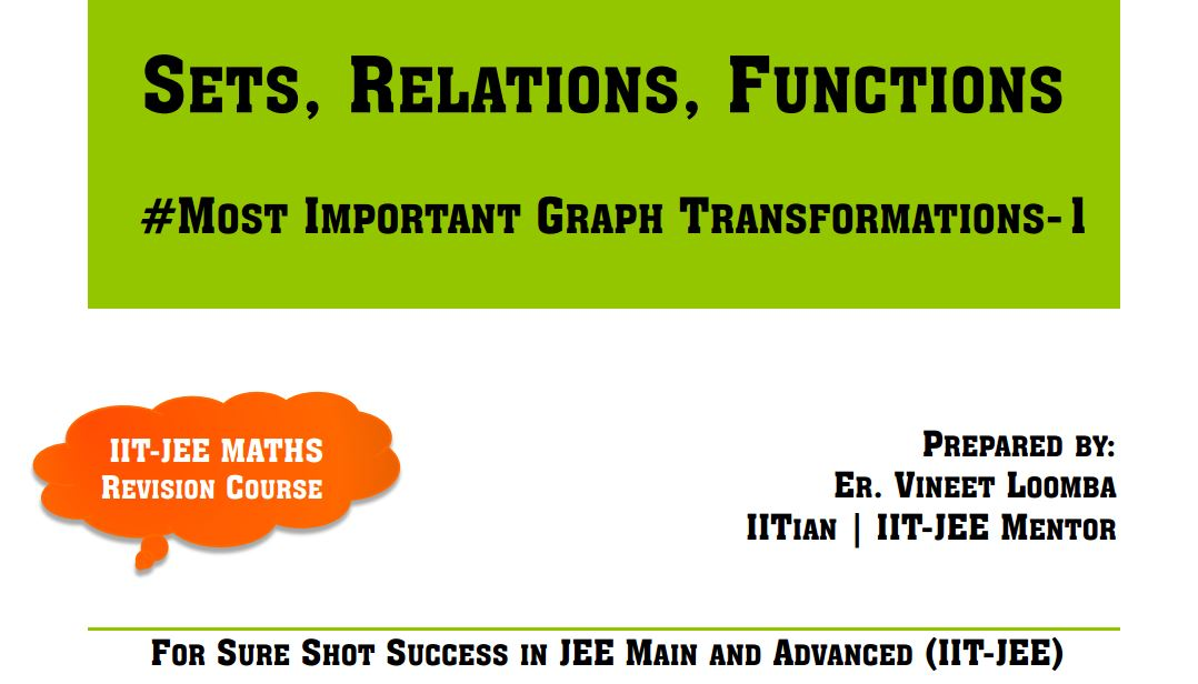Sets, Relations, Functions Class 11 Revision IIT-JEE
