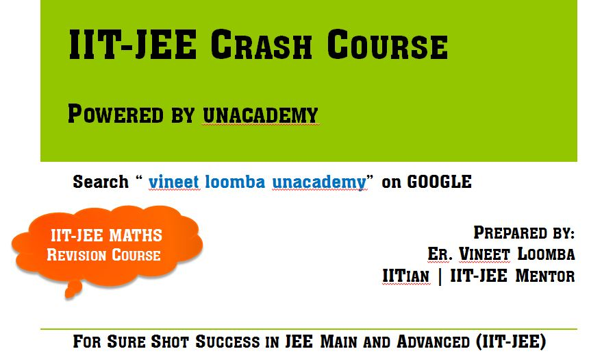 iit-jee crash course unacademy