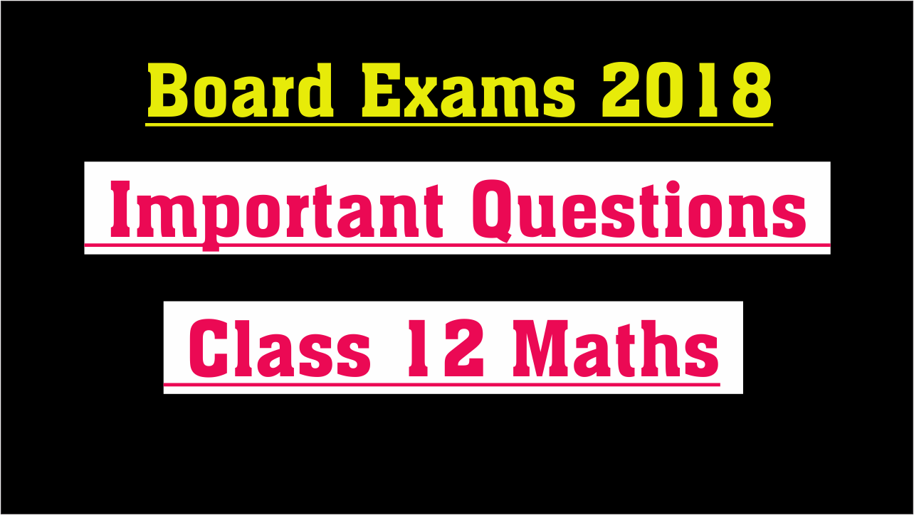 100 Important Questions Class 12 Maths | Guess Paper